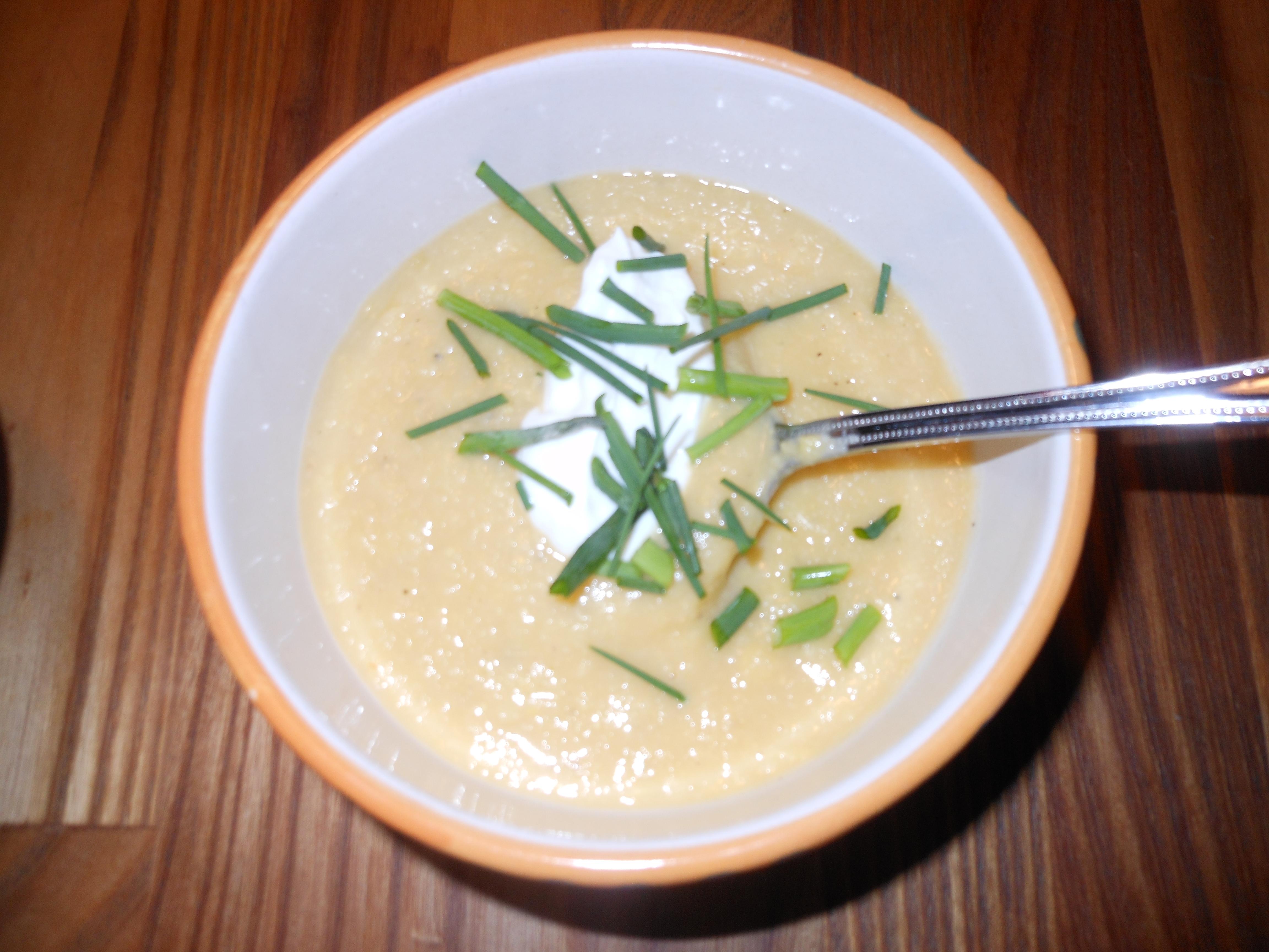 Cold Corn Soup Corn Vichyssoise Vegetarian Cooking