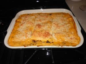 Fully Baked Cremini Pumpkin Lasagna