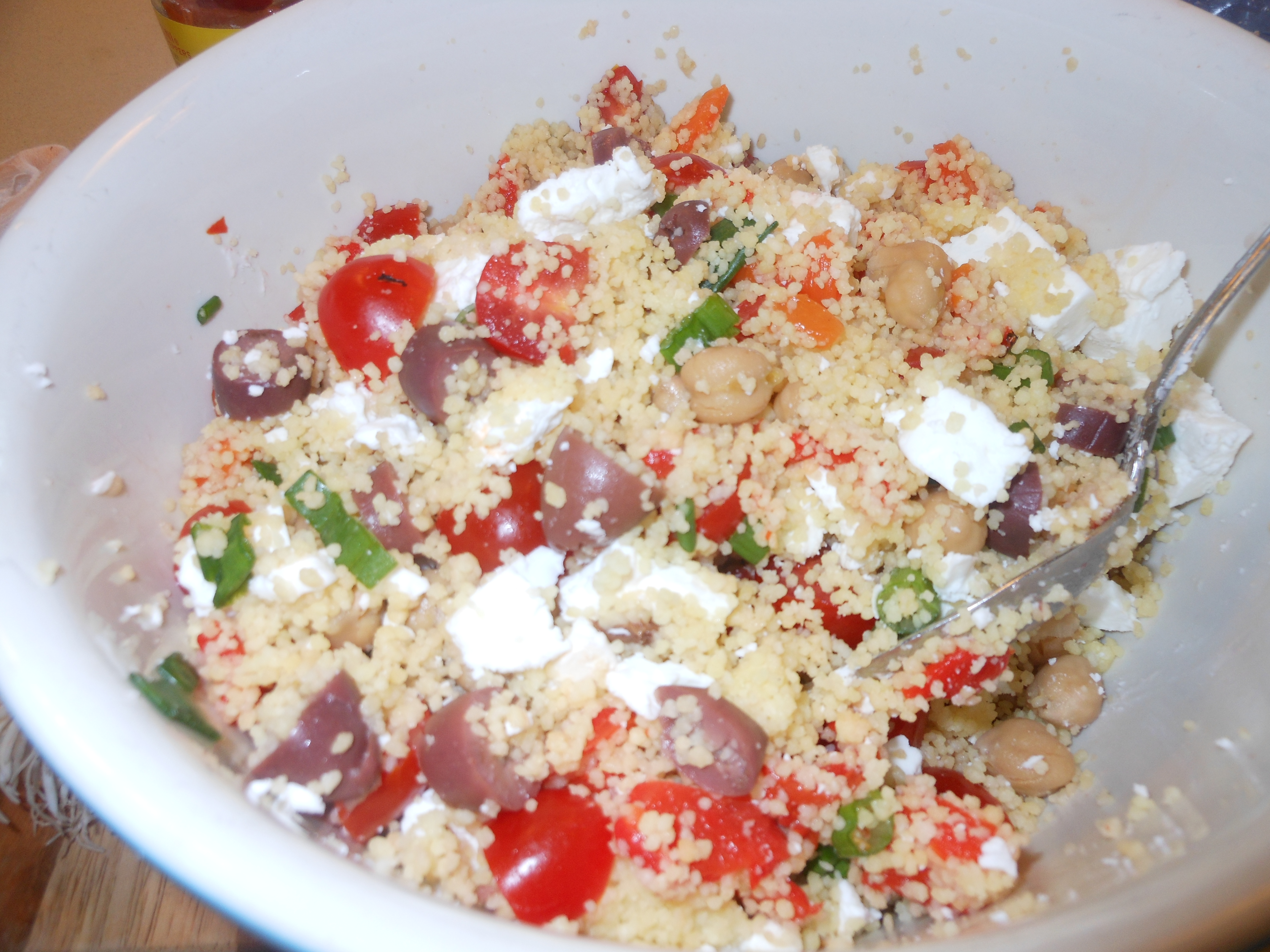 Mediterranean Style Salad Dressing With Couscous Or Quinoa