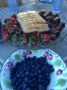 Lemon poppy seed loaf and Valentines Day brownies in July