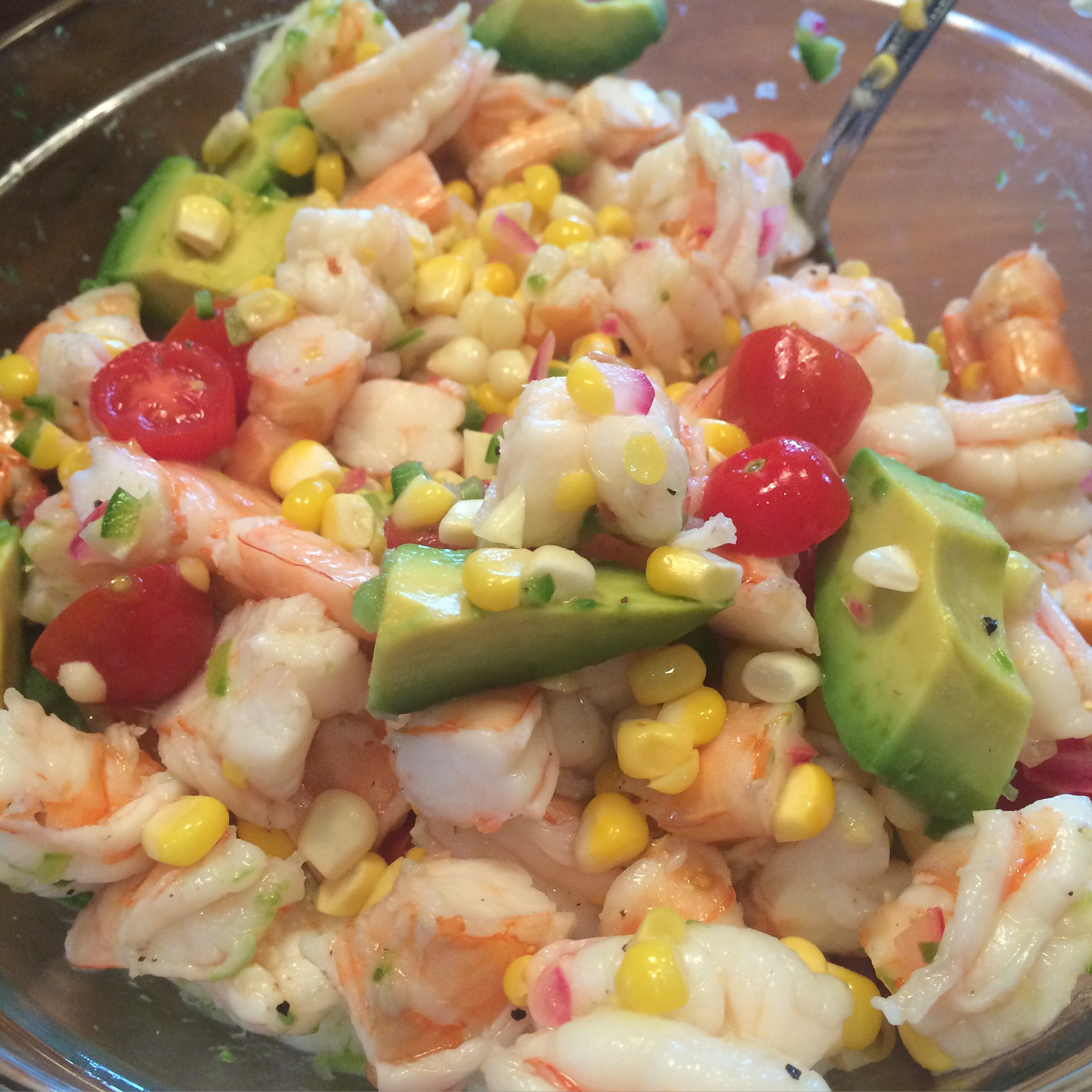 Cold Shrimp Salad Cooking With Candi