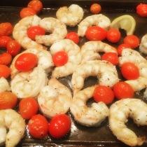 Shrimp on Sheet Pan